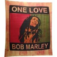 Tenture striée maxi Bob Marley one love