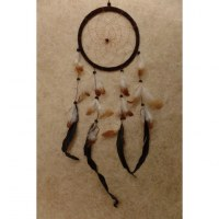 Attrape rêves marron foncé Hopi II
