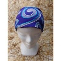 Fichu/bandeau délavé violet bordado
