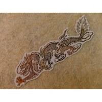 Petit autocollant dragon doré