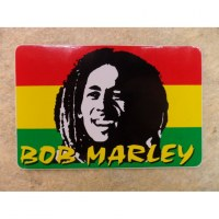 Autocollant rectangle Bob Marley 2