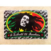 Autocollant rectangle Bob Marley 3