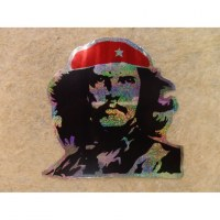 Petit autocollant pailleté El Che
