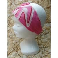 Fichu/bandeau délavé rose bordado