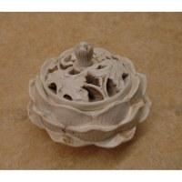 Porte encens fleur de lotus blanche