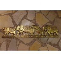 Tableau les 4 éléphants dorés