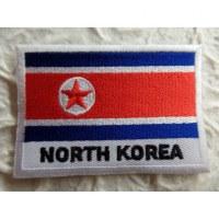 Ecusson drapeau Corée du Nord
