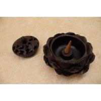 Porte encens fleur de lotus noire
