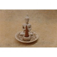 Porte encens blanc Bouddha anjali