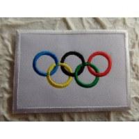 Ecusson drapeau Olympique