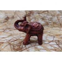 Eléphant miniature rouge cuivre