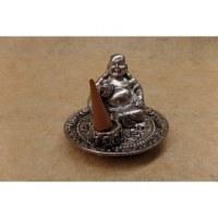 Porte encens gris Bouddha chinois yuan bao