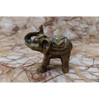 Eléphant miniature doré