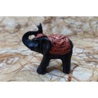 Eléphant miniature noir et cuivré