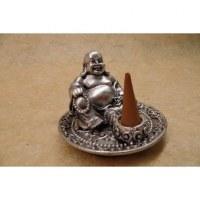 Porte encens gris Bouddha chinois