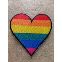 Patch coeur rainbow