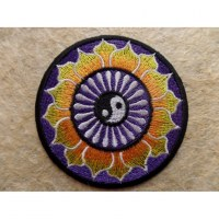 Patch yin yang fleur de lotus