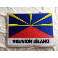 Ecusson drapeau Ile de la Réunion