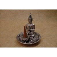 Porte encens gris Bouddha anjali