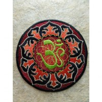 Patch Aum lotus orange