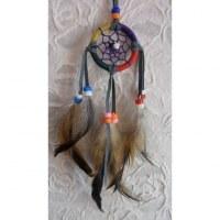 Mini dreamcatcher 4 couleurs lanières grises