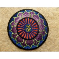 Patch Aum lotus mauve/bleu