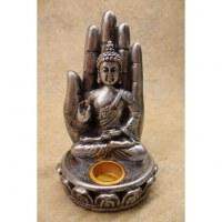 Porte encens gris Bouddha