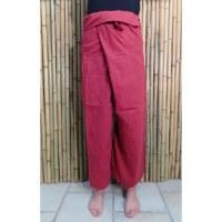 Pantalon de pêcheur Thaï rouge brique