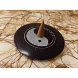 Porte encens yin yang noir/gris