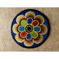 Patch fleur colorée