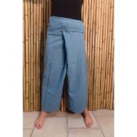 Pantalon de pêcheur Thaï bleu mer du sud