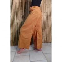 Pantalon de pêcheur Thaï orangé jaune