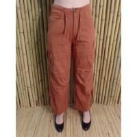 Pantalon zippy marron