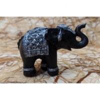 Eléphant Chang noir et gris