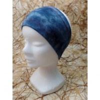 Bandeau gris bleu effet tie and dye