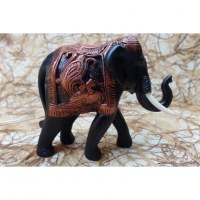 Bel eléphant Baan chang noir/cuivré