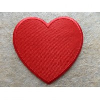 Patch coeur rouge