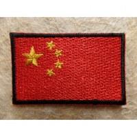 Ecusson drapeau de la Chine
