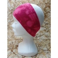 Bandeau rouge effet tie and dye