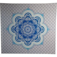 Tenture maxi fleur de lotus bleue