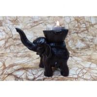 Bougeoir éléphant marron foncé