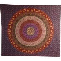 Tenture maxi tapis floral mauve