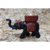 Bougeoir éléphant noir/cuivré