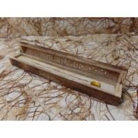 Boite coffre pyra porte encens bois