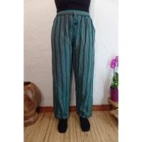 Pantalon Gandaki vert/bordeaux