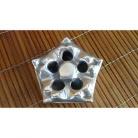 Cendrier métallique pentagone
