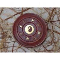 Porte encens rond yin yang