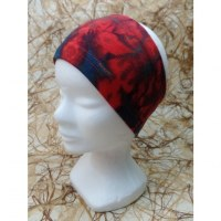 Bandeau rouge/bleu effet tie and dye
