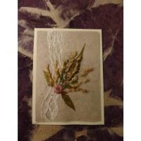 Carte fleurs séchées 13