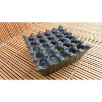 Cendrier foncé métallique carré 25 trous